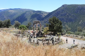 The tholos and the lower sanctuary of Delphi